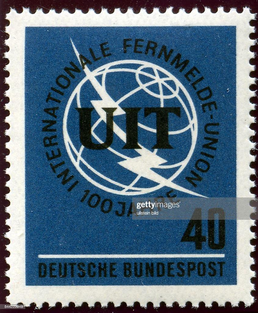 Deutschland Briefmarke Deutsche Bundespost Uit