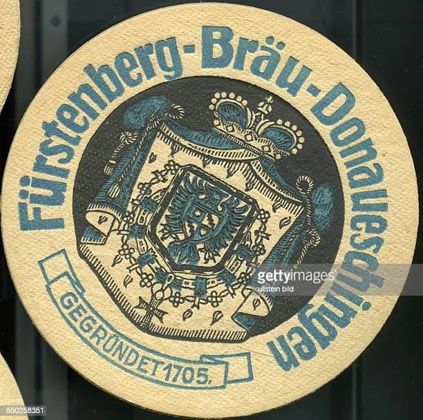 GER Deutschland ca 1970 Bierdeckel FürstenbergBräu Donaueschingen