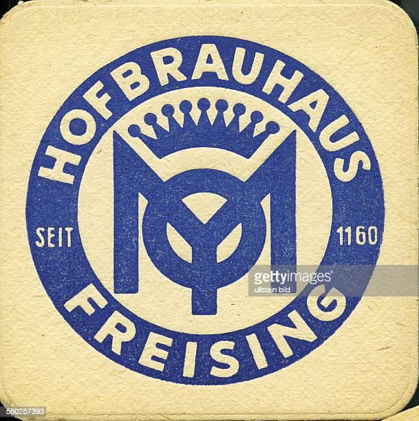 GER Deutschland ca 1970 Bierdeckel Hofbräu Freising