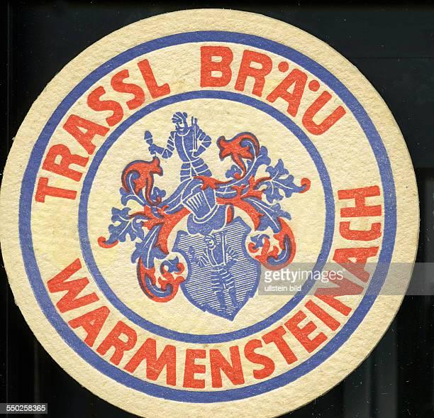 GER Deutschland ca 1970 Bierdeckel Trassl Braeu Warmensteinach