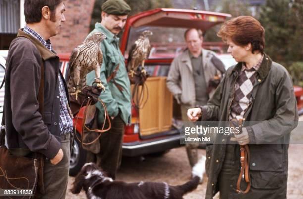 GER Deutschland ca1980 Beizjagd Falknerei Greifvögel