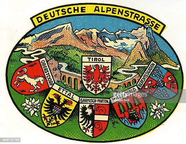 GER Deutschland Deutsche Alpenstrasse Tirol Mittenwald Ettal Obersdorf Berchtersgarden