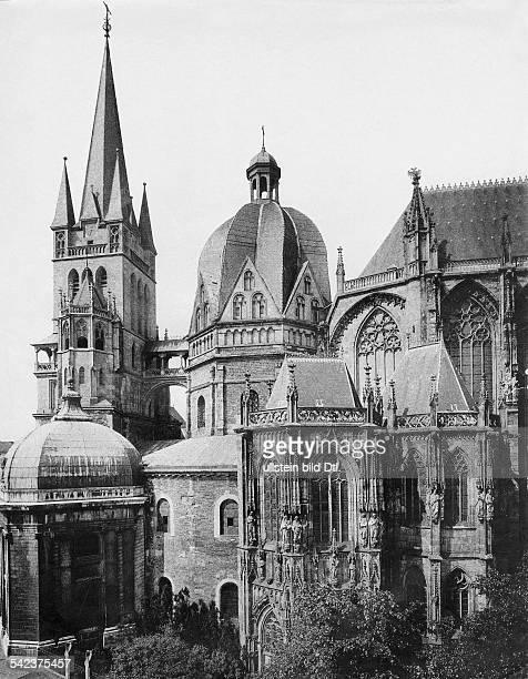 Deutschland Dom zu Aachen Aussenansicht um 1900