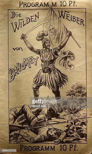 das Soul of Africa Museum Die erste Seite des Programmheft zur Voelkerschau Die wilden Weiber von Dahomey die ua in Muenchen 1892 statt gefunden hat...