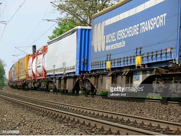 Güterzug der SBBCargo auf der linksrheinischen Bahntrasse zwischen Koblenz und Bonn
