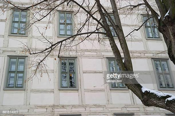 Deutschland Halle Franckesche Stiftungen zu Halle Gebäude Fenster