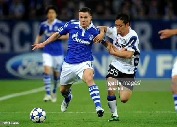 Deutschland NordrheinWestfalen Gelsenkirchen UEFA Champions League Saison 2010/2011 ViertelfinalRueckspiel FC Schalke 04 Inter Mailand 21 Schalkes...