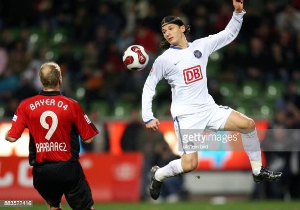 Deutschland, Nordrhein-Westfalen, Leverkusen: Bundesliga, Saison 2006/2007, Bayer 04 Leverkusen - Hertha BSC Berlin 2:1 - Berlins Marko Pantelic in...