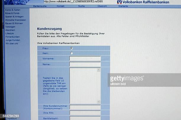 Deutschland PhishingMail versucht VolksbankenRaiffeisenbanken Kunden mittels einer gefaelschten Internetseite der Bank geheime Daten und PIN bekannt...