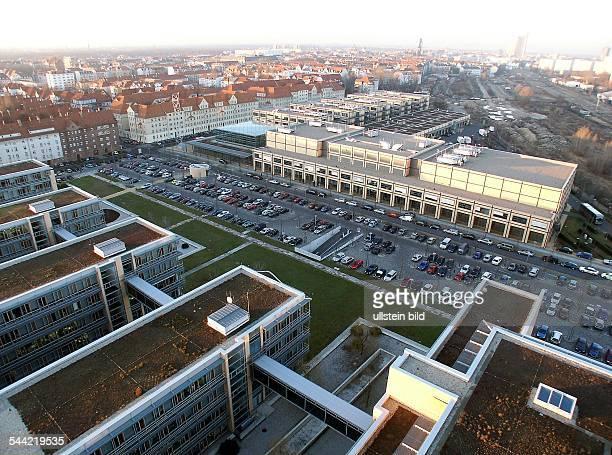 Deutschland, Sachsen, Leipzig: Media City - - Luftaufnahme