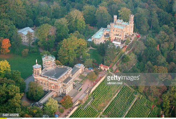 Deutschland, Sachsen: Lingnerschloss und Schloss Albrechtsberg in Dresden, Luftaufnahme