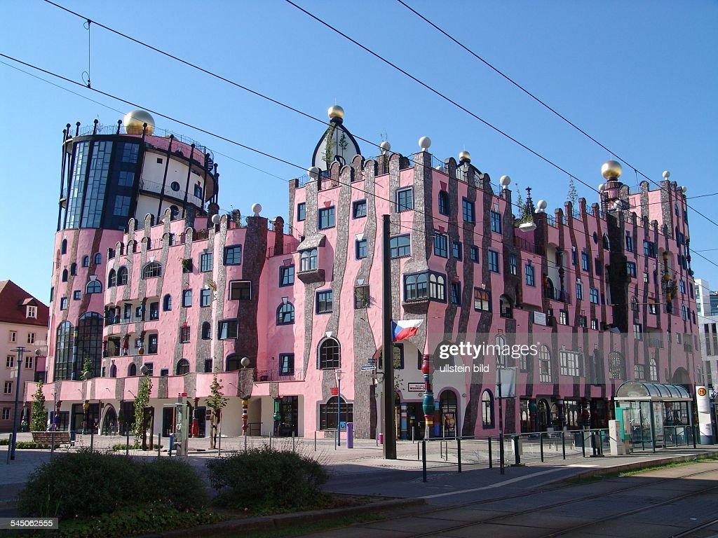Magdeburg Architektur deutschland sachsen anhalt magdeburg hunderwasserhaus die