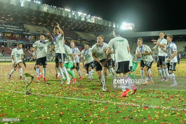 Deutschland schlussjubel during the UEFA U21 Final match between Germany and Spain at Krakow Stadium on June 30, 2017 in Krakow, Poland.