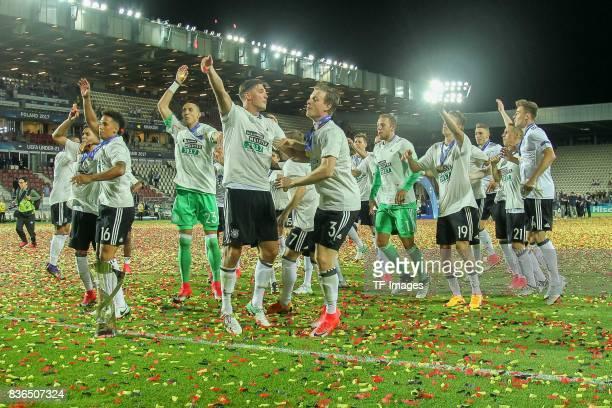 Deutschland schlussjubel during the UEFA U21 Final match between Germany and Spain at Krakow Stadium on June 30 2017 in Krakow Poland