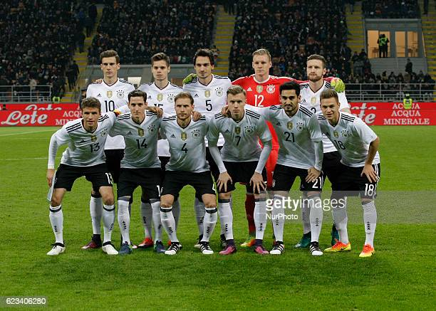 Deutschland team during the friendly match between Italia v Germania in Milan Giuseppe Meazza Stadio on November 15 2016