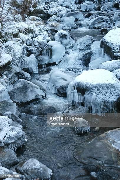 Deutschlands höchster Wasserfall Triberg Schwarzwald BadenWürttemberg Deutschland Europa Winter Schnee Reise