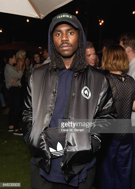 Dev Hynes aka Blood Orange attends Warner Music Group Summer party in association with British GQ and Quintessentially on July 6 2016 in London...