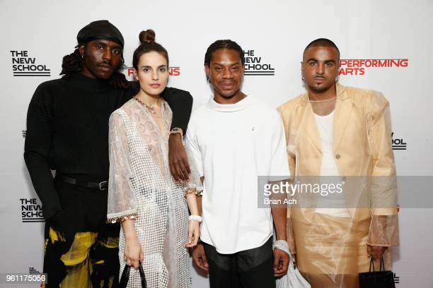 Dev Hynes Ana Kras Telfar Clemens and Raul Lopez attend the 70th Annual Parsons Benefit on May 21 2018 in New York City