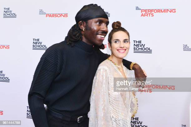 Dev Hynes and Ana Kras attend the 70th Annual Parsons Benefit at Pier Sixty at Chelsea Piers on May 21 2018 in New York City