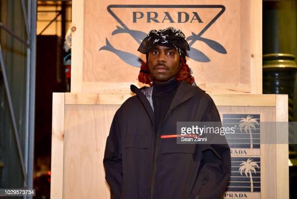 Dev Hynes attends the Prada Linea Rossa event at Prada Broadway NY on Sept 8 2018