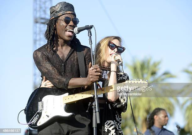 Dev Hynes of Blood Orange performs as part of the Coachella Valley Music and Arts Festival at The Empire Polo Club on April 20 2014 in Indio...