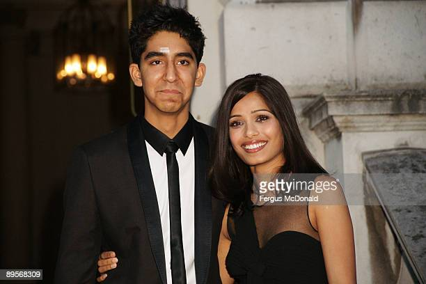 OUT** Dev Patel and Freida Pinto attend a photo opportunity before introducing a showing of Slumdog Millionaire at the Film4 Summer Screen at...