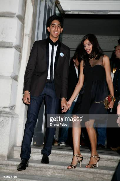 Dev Patel and Freida Pinto attends screening of 'Slumdog Millionaire' at Somerset House on August 2 2009 in London England
