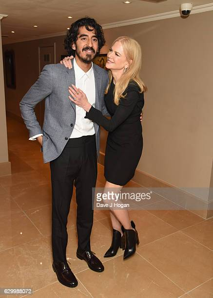 Dev Patel and Nicole Kidman attend a VIP screening of Lion at The May Fair Hotel on December 15 2016 in London England
