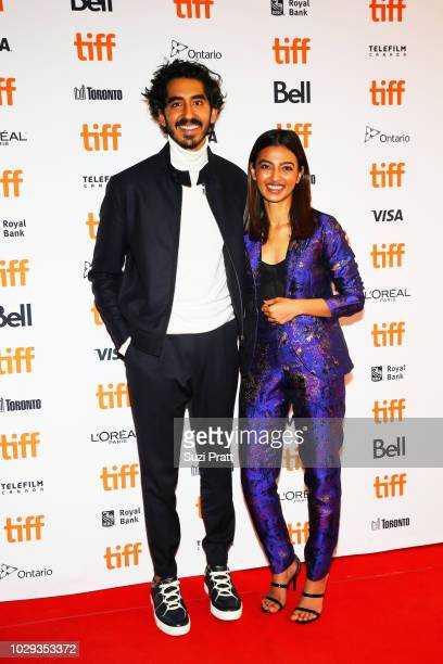 Dev Patel and Radhika Apte attends the 'The Wedding Guest' premiere during 2018 Toronto International Film Festival at The Elgin on September 8 2018...