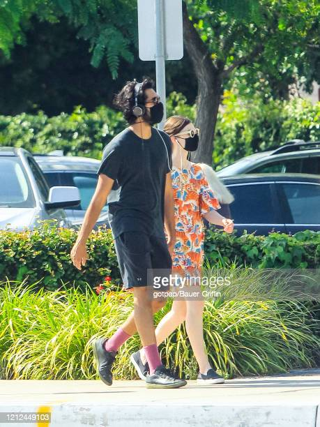 Dev Patel and Tilda Cobham-Hervey are seen on May 09, 2020 in Los Angeles, California.