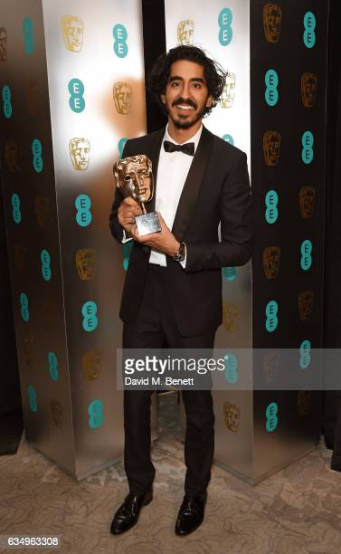 Dev Patel attends the official after party dinner for the EE British Academy Film Awards at Grosvenor House on February 12 2017 in London England