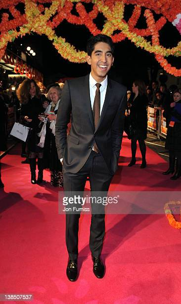 Dev Patel attends the world premiere of 'The Best Exotic Marigold Hotel' at The Curzon Mayfair on February 7 2012 in London England
