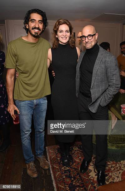 Dev Patel Felicity Blunt and Stanley Tucci attend a Curtis Brown screening of Lion hosted by actor Dev Patel at Soho House on December 13 2016 in...