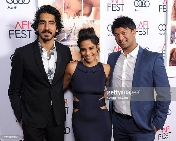 Dev Patel Priyanka Bose and Saroo Brierley arrive at the AFI FEST 2016 Presented By Audi Screening Of The Weinstein Company's Lion at TCL Chinese 6...