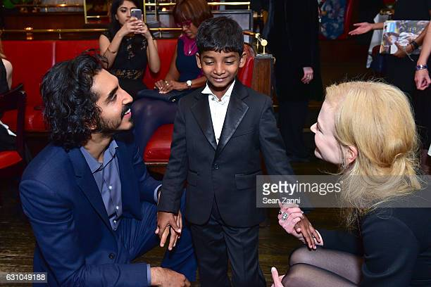 Dev Patel Sunny Pawar and Nicole Kidman attend Caryl M Stern The US Fund for UNICEF Tina Brown and Sofia Coppola Host a Screening and Reception for...