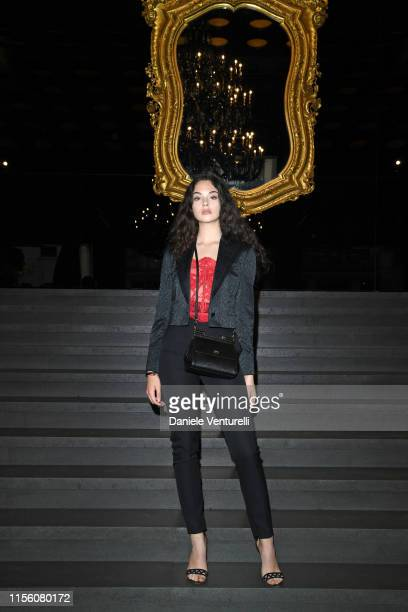 Deva Cassel attends Dolce Gabbana Front Row Milan Men's Fashion Week Spring/Summer 2020 on June 15 2019 in Milan Italy