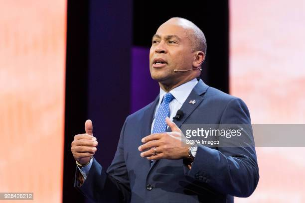 Deval Patrick, Former Governor of Massachusetts, speaking at the AIPAC Policy Conference at the Walter E. Washington Convention Center.
