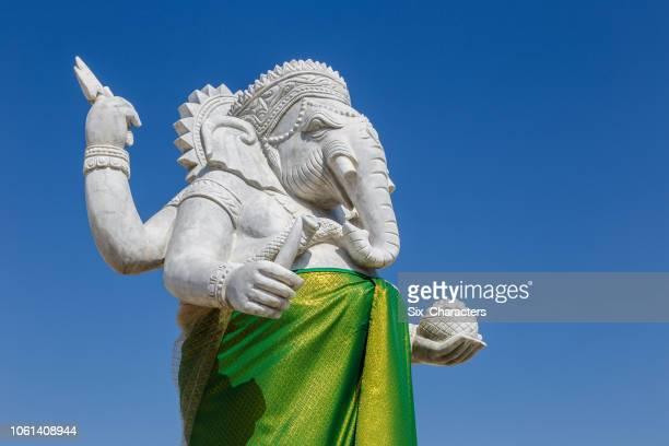 devalai shiva mahadev, hindu god ganesha lord of success - white elephant stock photos and pictures