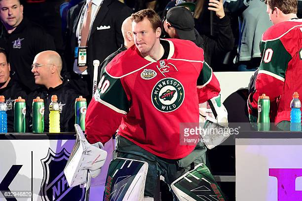 Devan Dubnyk of the Minnesota Wild enters the ice before the 2017 Coors Light NHL AllStar Skills Competition as part of the 2017 NHL AllStar Weekend...