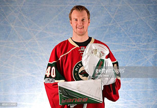 Devan Dubnyk of the Minnesota Wild poses for a portrait prior to the 2017 Honda NHL AllStar Game at Staples Center on January 29 2017 in Los Angeles...