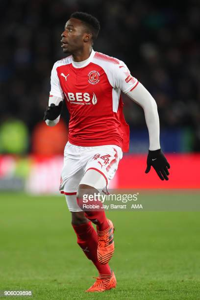Devante Cole of Fleetwood Town during The Emirates FA Cup Third Round Replay match between Leicester City and Fleetwood Town at The King Power...
