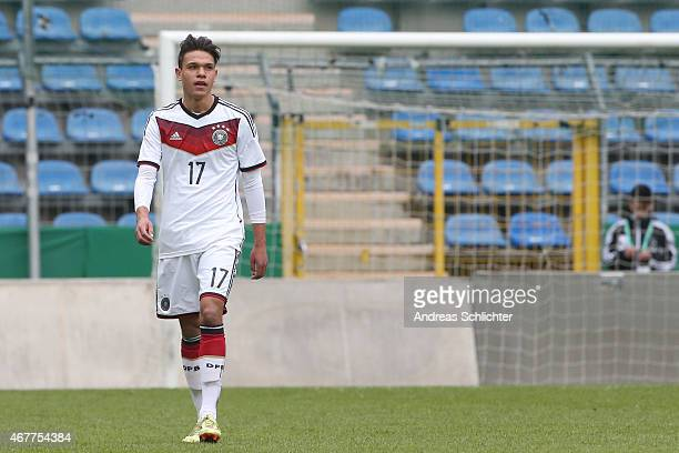 Devante Parker of Germany , during the UEFA Under19 Elite Round match between U19 Germany and U19 Slovakia at Carl-Benz-Stadium on March 26, 2015 in...