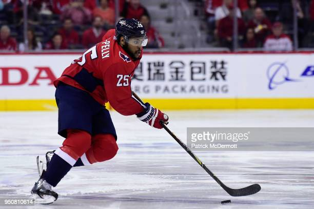 Devante SmithPelly of the Washington Capitals skates with the puck in the third period against the Columbus Blue Jackets in Game Five of the Eastern...