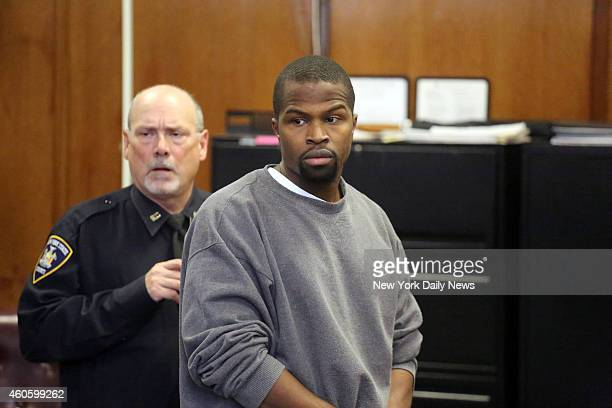 Devar Hurd appears in Manhattan Supreme Court on Wednesday December 10 2014 Hurd is charged with stalking the singer Ashanti