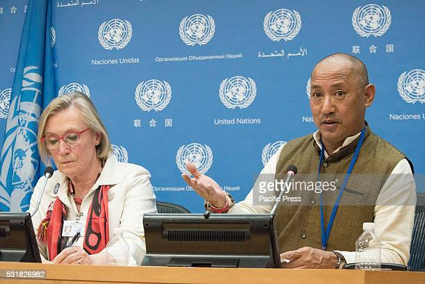 Devasish Roy speaks with the press In conjunction with the opening of the fifteenth session of the United Nations Permanent Forum on Indigenous...
