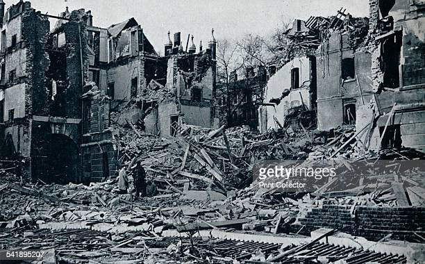'Devastated buildings looking nearly due north from the inner Temple garden' 1941 A picture showing the damage done to Temple London on May 10th 1941...