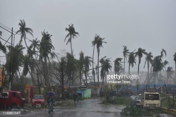 Devastated look of Puri after the onset of cyclone Fani on May 3 2019 in Puri India Cyclone Fani on Friday lashed Odisha triggering heavy rainfall...