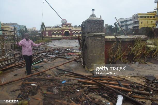 Devastated look of Puri Heritage hotel after the onset of cyclone Fani on May 3 2019 in Puri India Cyclone Fani on Friday lashed Odisha triggering...