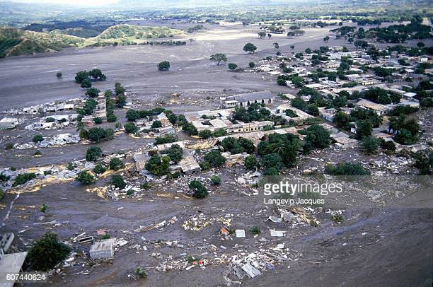 Devastation of the town of Armero Colombia after the eruption of Nevado del Ruiz The town of Armero was destroyed on November 13 1985 in the second...