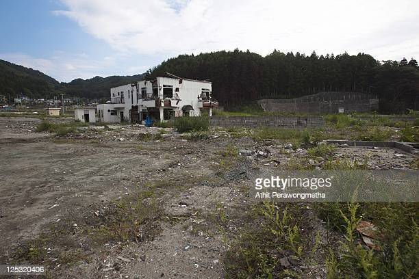 A devasted area at Otsuchi on the day before sixth months anniversary of the March 11 earthquake and massive tsunami on September 10 2011 in Iwate...